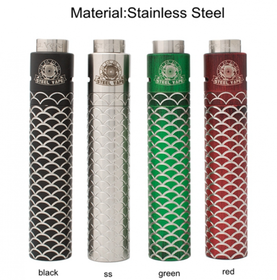 Bright return of the company Steel Vape.  Fish scales are the right thing!  (Sebone kit)