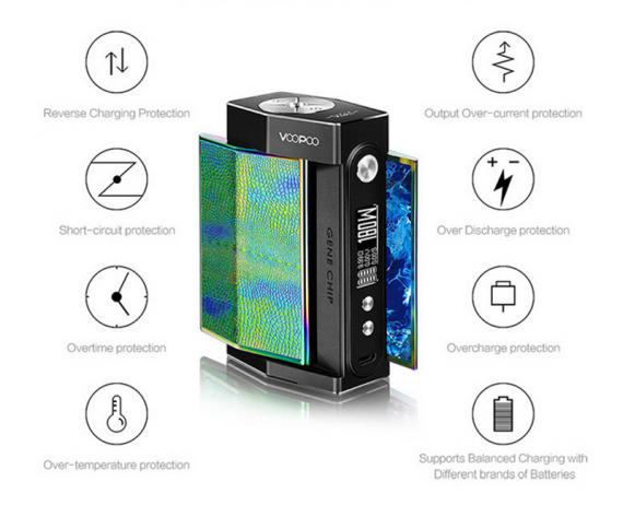 TOO TC Box Mod - the latest development of Voopoo, a little bright design in the tape