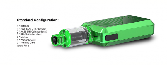 Batpack is the first device that can run on regular AA batteries (by Joyetech)