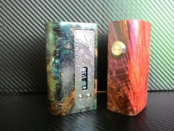 Sator Mods DNA40 - дерево и дамаск
