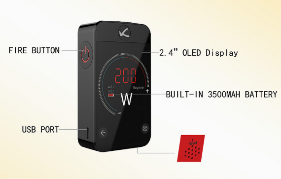 Kanger Pollex Box Mod - screens are becoming bigger and more sensory ...