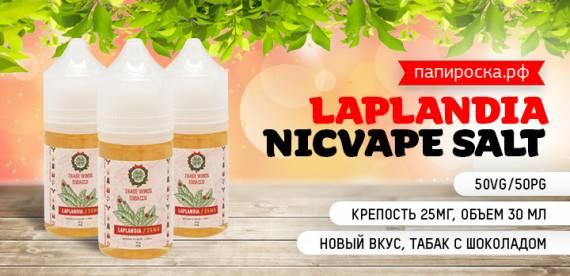 Летний Привет от Санты: Laplandia - NicVape Salt в Папироска РФ !