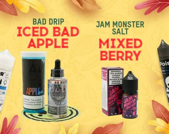 Новые вкусы в ТОПовых линейках: Iced Bad Apple - Bad Drip и Mixed Berry - Jam Monster SALT в Папироска РФ !
