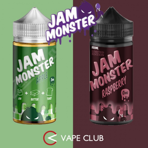 VapeClub.Ru - Яблочный и малиновый джем от Jam Monster
