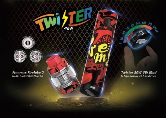 Freemax Twister Starter Kit - a motley set with an interesting solution ...