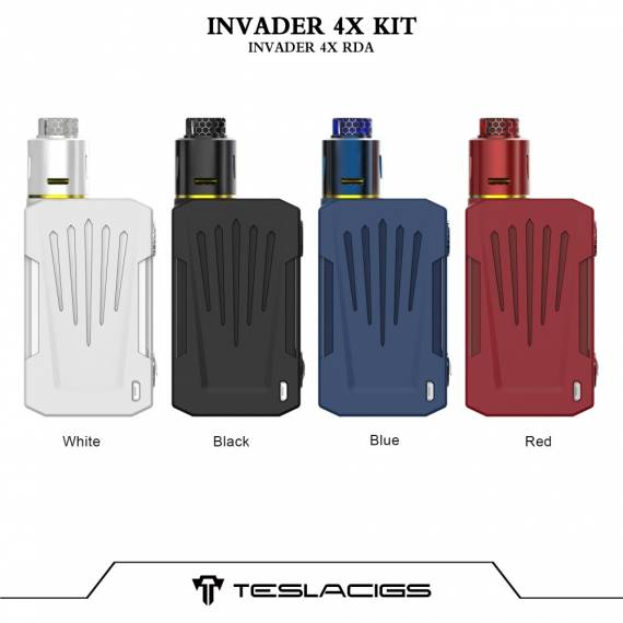 Teslacigs Invader 4X Vape Kit - completely grind your brutality ...