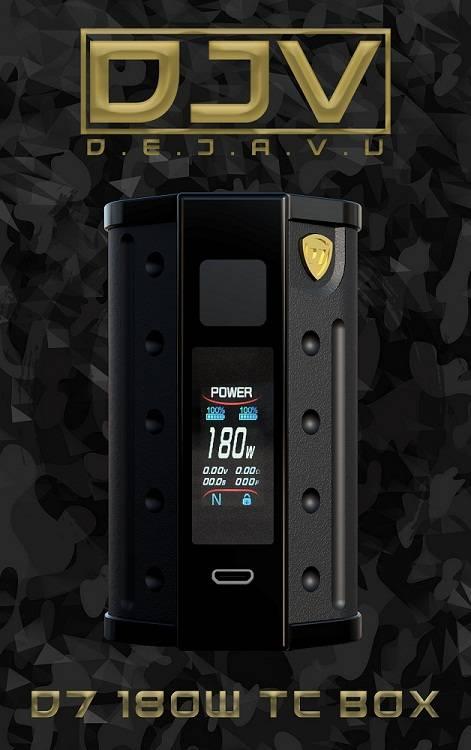 DEJAVU DJV D7 Box Mod -  интересный дизайн в паре с надежным чипсетом...