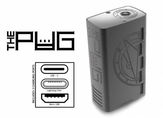 Vapergate The Pug - три порта для зарядки...