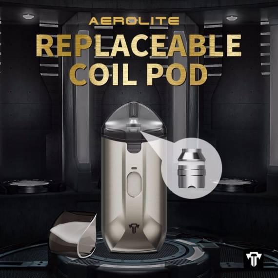 Teslacigs Aerolite pod - строгий металлический набор...
