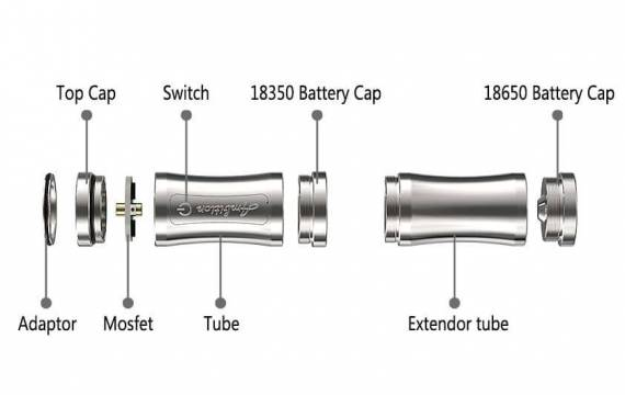 Ambition Mods Luxem Tube Mod -