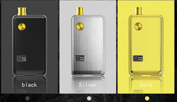 Think Vape ZETA POD kit - dotmod aesthetics, serviced base, and the functionality of a full-fledged mod ...