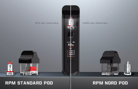 Smok RPM40 kit - бруски входят в омду...