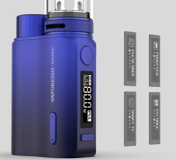 Vaporesso SWAG II Kit - again elegant design and landing up to 25mm ...
