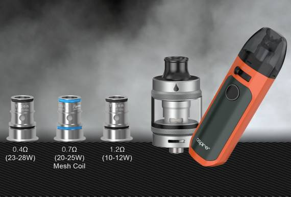 Aspire Tigon AIO Kit - fast charge, 5ml cartridge and interesting airflow control ...