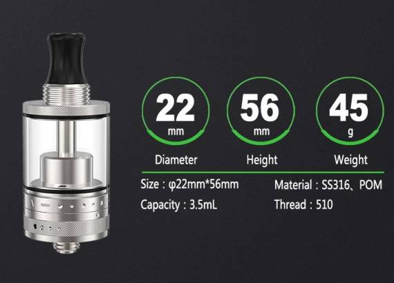 Ambition Mods Purity Plus MTL RTA - oversized and spacious ...