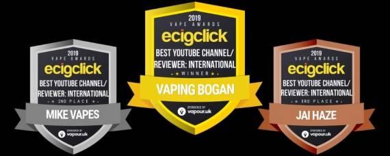Результаты ежегодной премии Ecigclick Vape Awards 2019...