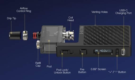 Lost Vape Q Ultra Pod System Kit - Type-C, RBA база, увеличенная АКБ и полноценная регулировка мощности...
