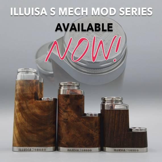 Fakirs Mods Illusia mech mod 18350  - механический стик из ореха...