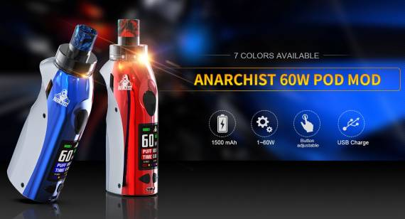 Kangvape Anarchist 60W POD mod kit - анархист из поднебесной...