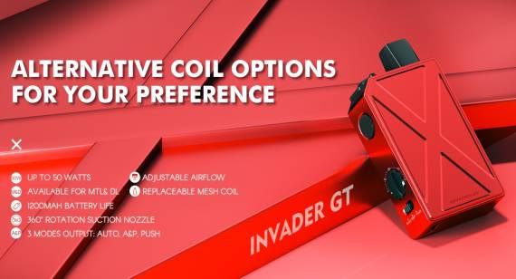 Teslacigs INVADER GT - стал подом, но себе не изменил...