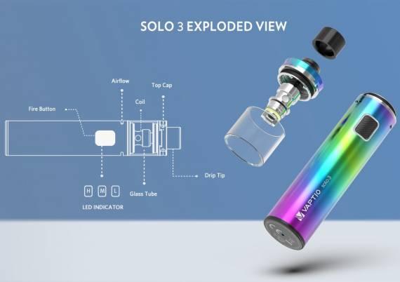 Vaptio Solo 3 Kit - новая крышка и регулировка обдува...