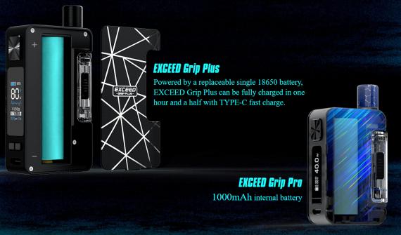 Joyetech EXCEED Grip Plus - плюс 18650 и увеличинные габариты...