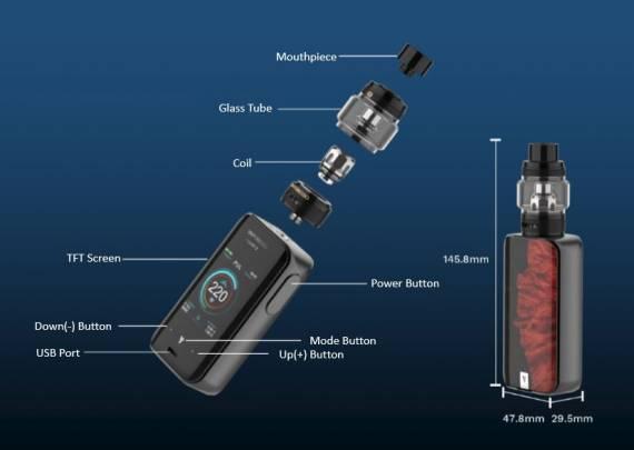 Vaporesso LUXE II 220W kit - коробка старая, мозги новые...