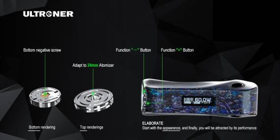 Ultroner Alieno - двойная кнопка фаер, стабвуд и два чипсета на выбор...