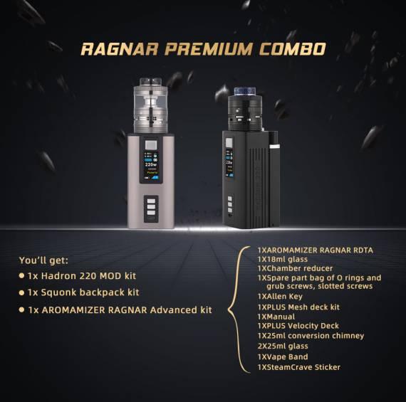 Новые старые предложения - Steam Crave Aromamizer Ragnar RDTA 5th Anniversary Edition и Ragnar Premium Combo...