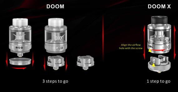 Damn Vape Doom X Mesh RTA - умный апгрейд...