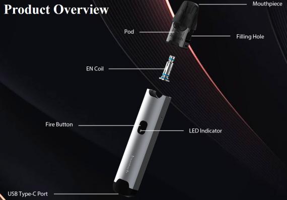 Joyetech Evio C Pod System kit - сменные испарители и примитивная регулировка обдува...
