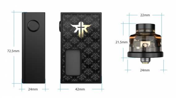 Vandy Vape REQUIEM BF kit - элегантный, компактный и богатый сквонк набор...