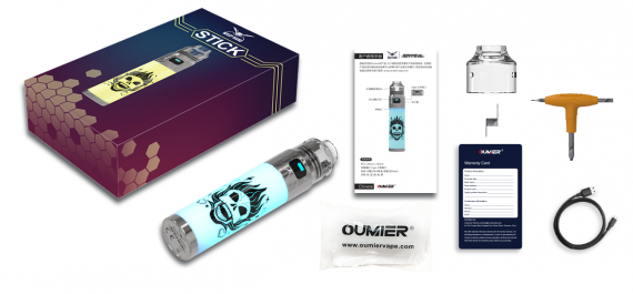 Oumier Wasp Nano Stick Flashing RDA kit - набор с интегрированной дрипкой...