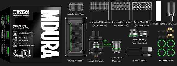 Wotofo MDura Pro kit - внезапное возвращение к производству бокс модов...