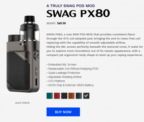 Новые старые предлоджения - Vaporesso SWAG PX80 и VLADDIN X kit...