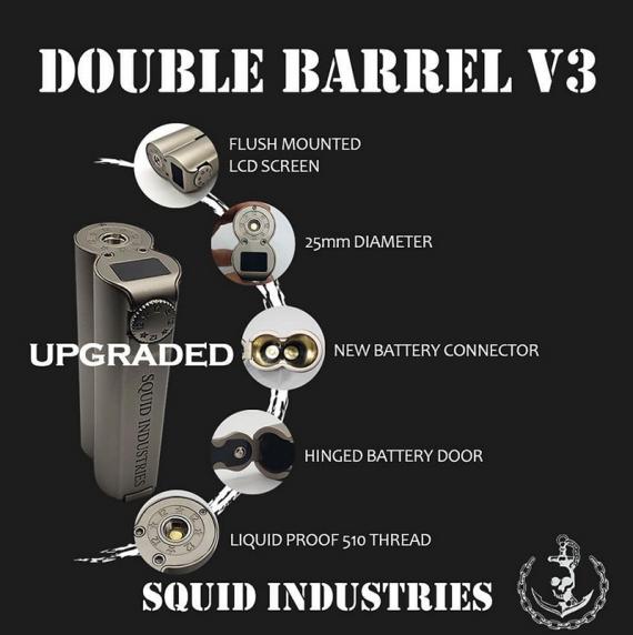 Третья версия двустволки от компании Squid Industries. Double Barrel V3