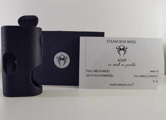 ASAP v2 0 from the young promising team Steam Box Mod.  Squonker, as we used to see him