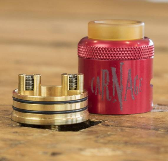 We removed an incomprehensible rack, redid the airflow, and thanks for that.  Carnage RDA v 1.5 from Purge Mods