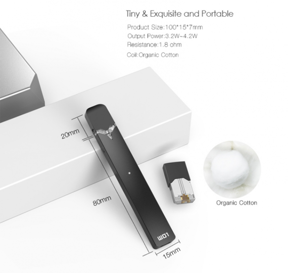 W01 Vape Pod is a typical representative of its class from OVNS