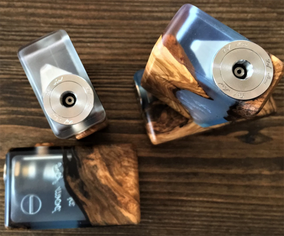 Wood and Acrylic Hybrid Squonker (PAF Mod BF Squonker)