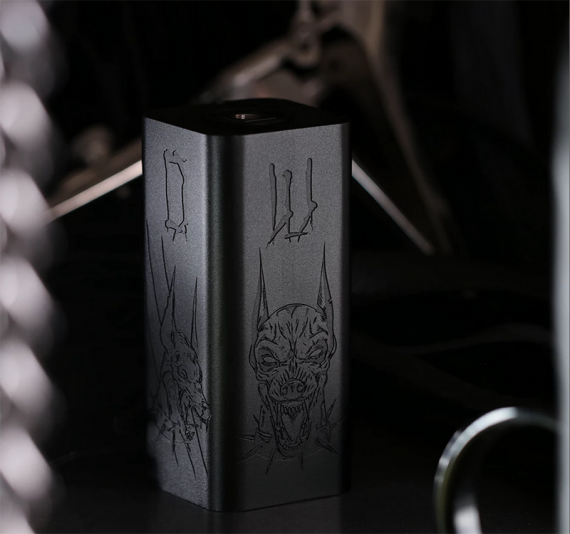 The project of two giants.  Hellhound Hammer of God from Vaperz Cloud and Deathwish Modz
