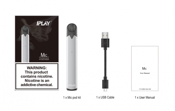 IPLAY Mic Pod System - for those who want to try electronic steam